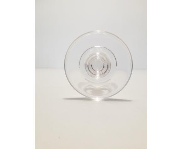 8 white wine glasses in baccarat crystal, model champigny, circa 1910