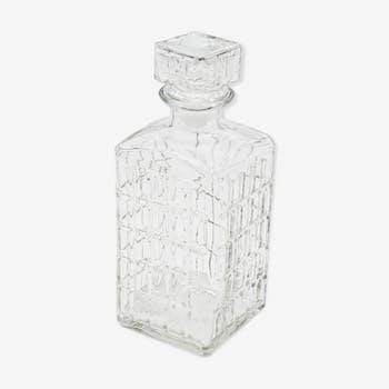Glass whisky carafe