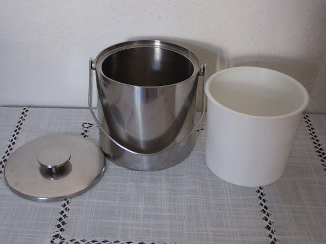 Ice bucket stainless steel vintage