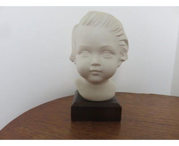 "Buste "" enfant en plâtre"