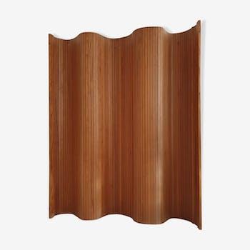 Pine tambour room divider / screen by Habitat, c.1980