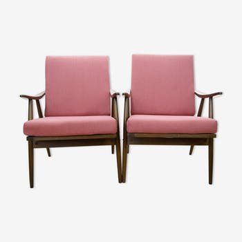 Pair of Czechoslovak armchairs from Ton, 1960