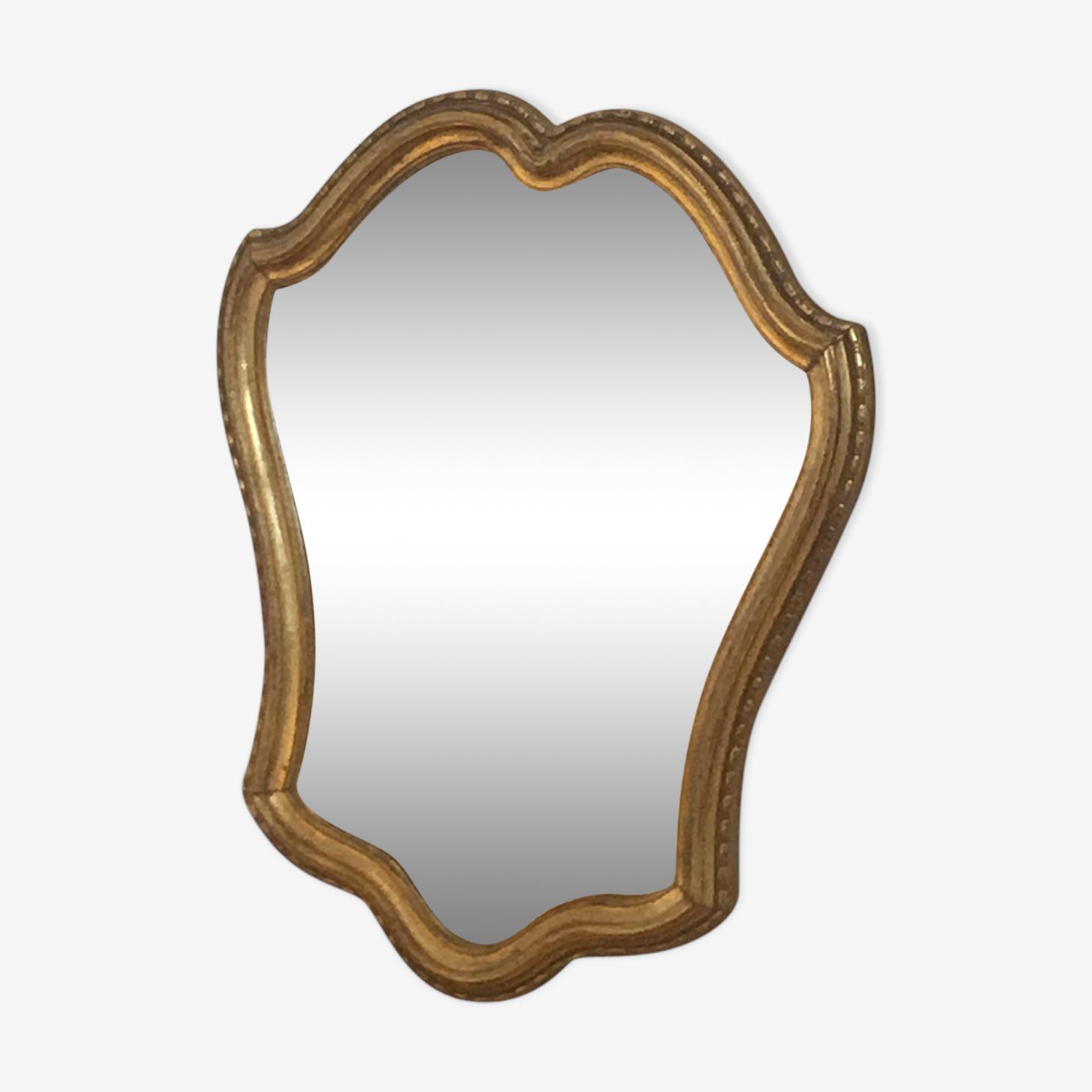 Miroir doré de style Louis XV, 29x36cm