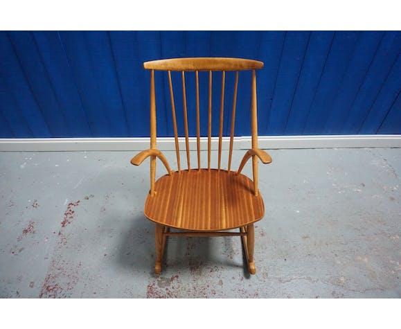 Model IW3 rocking-chair by Illum Wikkelsø, 1958