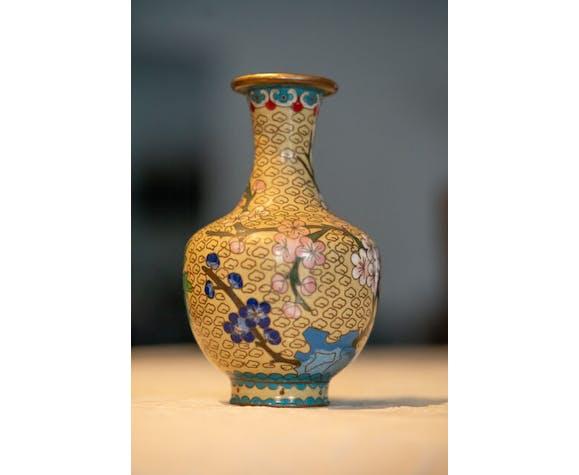 Vase asiatique à décor de cerisiers