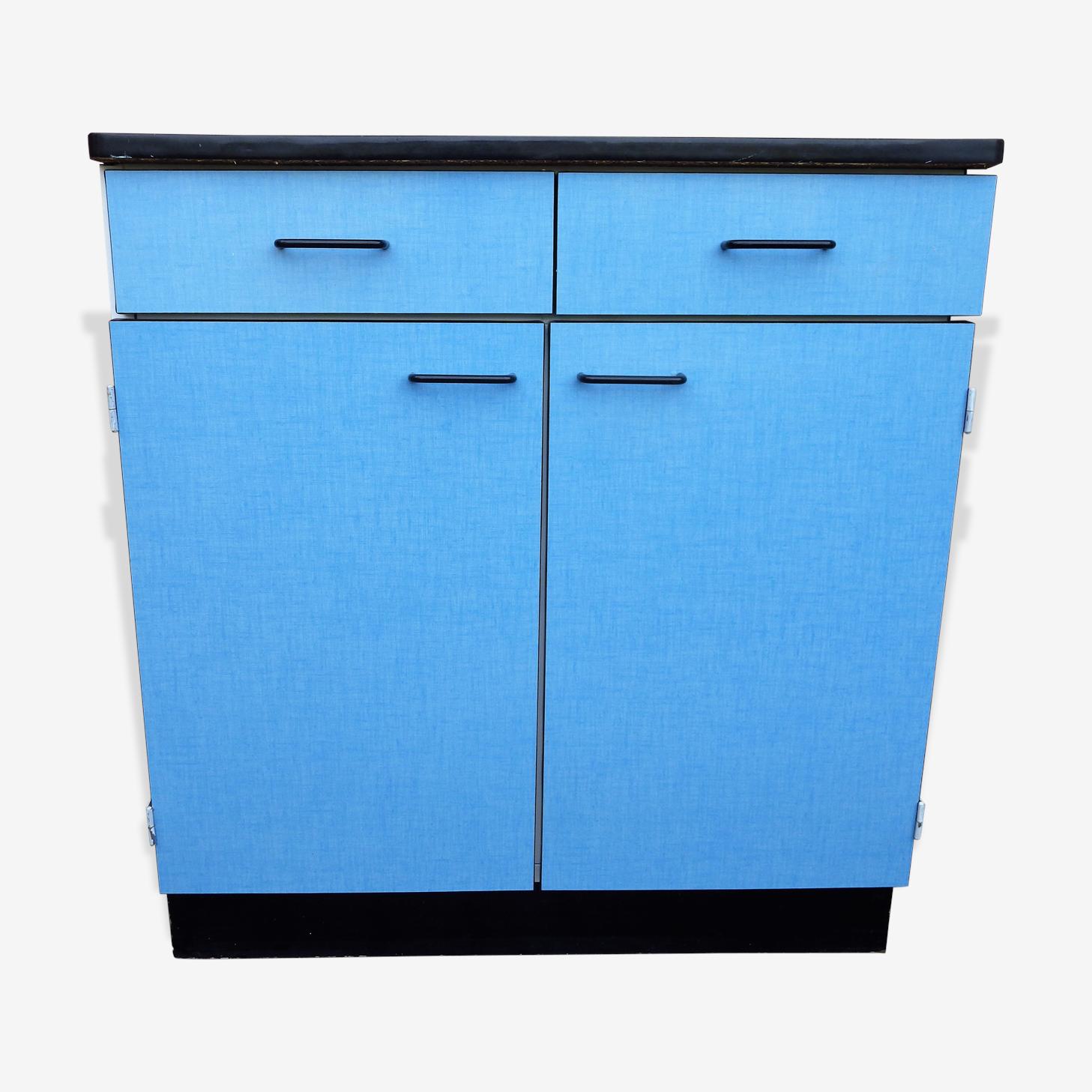 Buffet bas en formica bleu