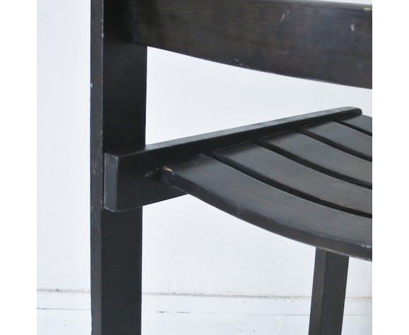 Black wood chair Wilkhahn