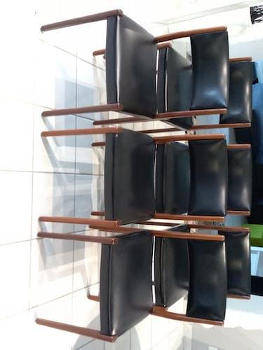 Suite de 6 chaises teck scandinave 1970