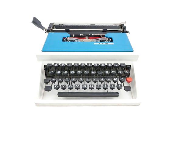 Machine à écrire Underwood 315 bleue