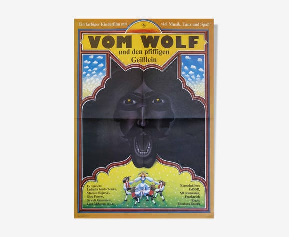 Film Poster 'Of the Wolf and the Smart Little Goats' | East Germany | 1979