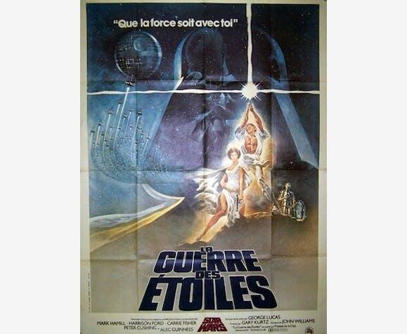 Affiche cinéma originale de 1977.La guerre des étoiles,Star Wars.