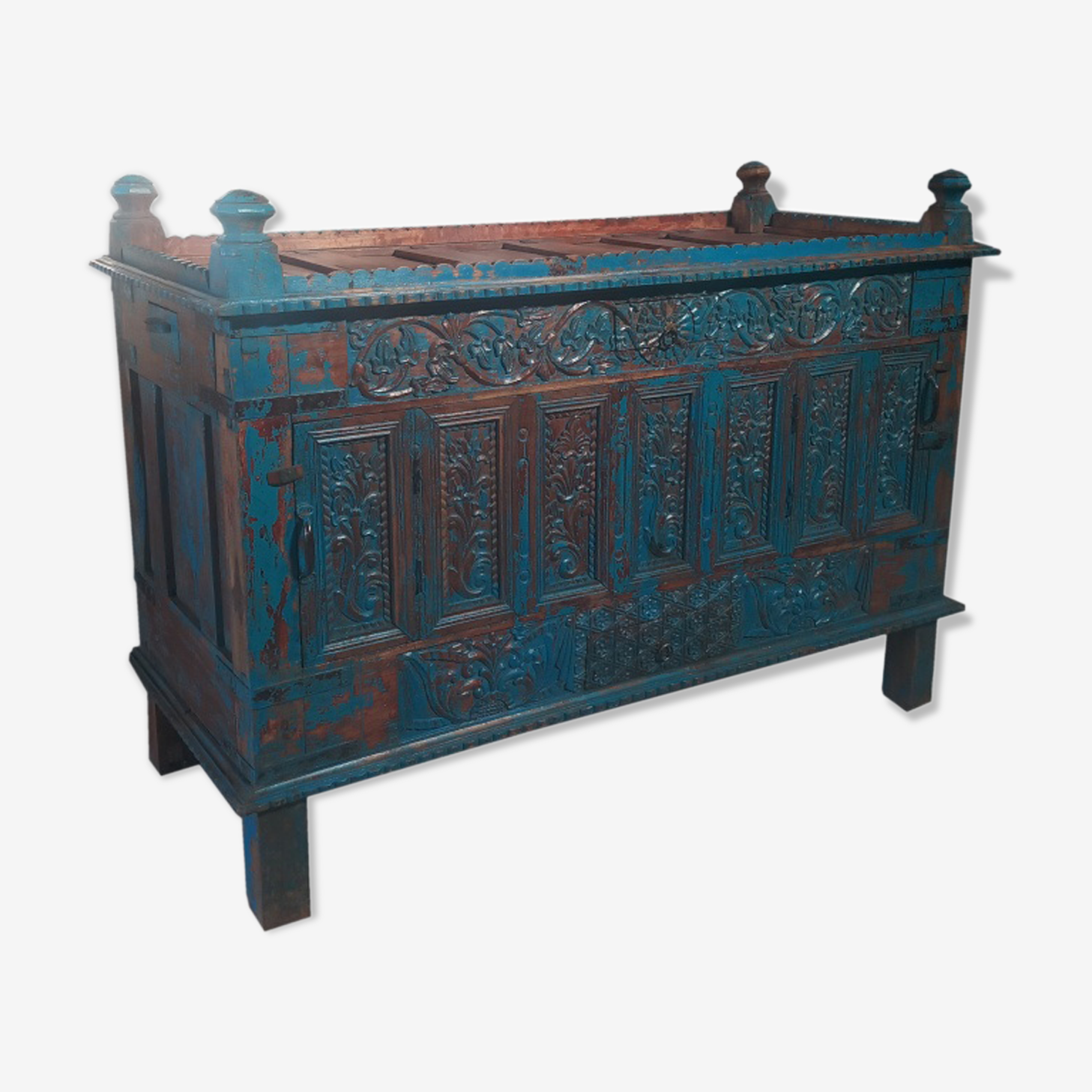 Blue box old damchaya old teak