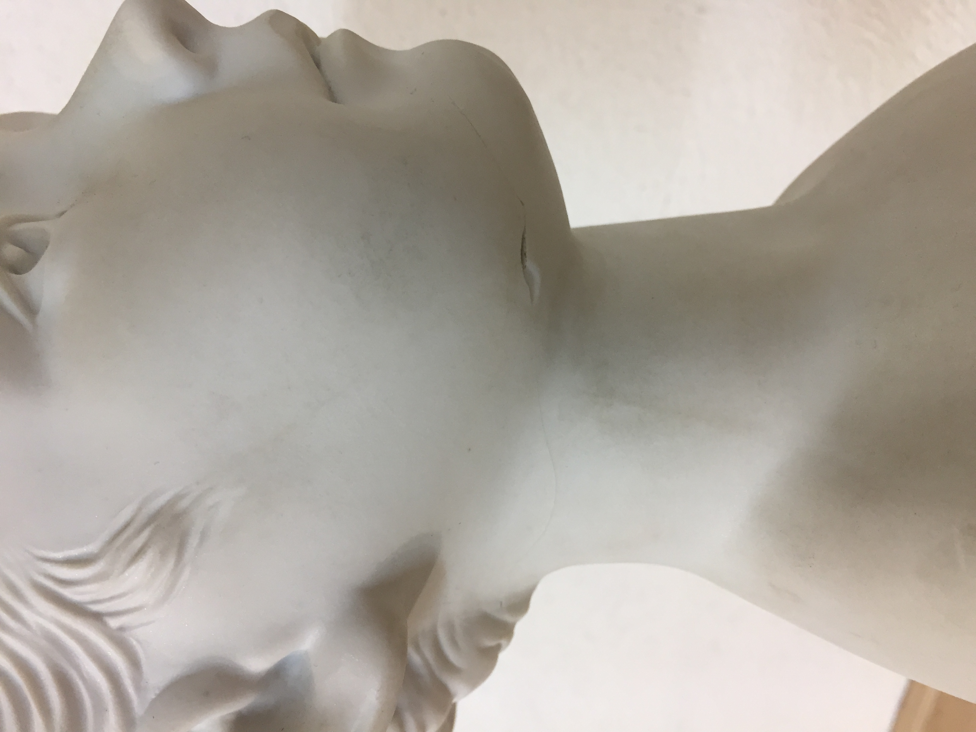 Bust of Moliere by Houdon 4.9 in White Souvenirs of France