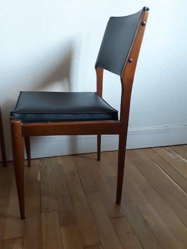 Lot de deux chaises vintage 50