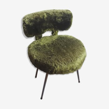 Chaise fourrure vintage