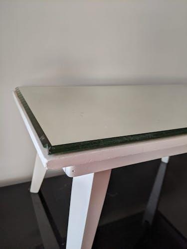 Table basse, dessus miroir