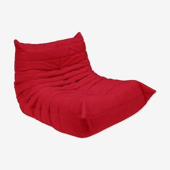 Chauffeuse Togo en microfibre rouge sabbia 984, Ligne Roset