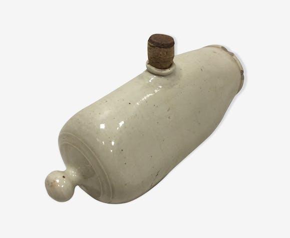 Bouillotte ancienne en céramique