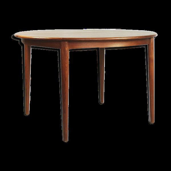 Table à manger en teck extensible des années 1960