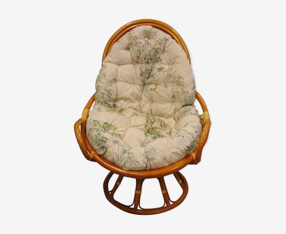 Vintage rattan armchair years 60/70