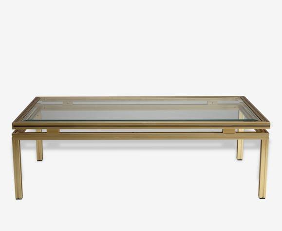 grand choix de a05b5 c00ee Table basse signée Pierre Vandel, Paris - laiton - doré ...