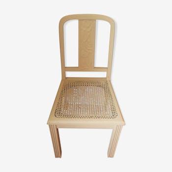 Chaise cannée 1930 bois