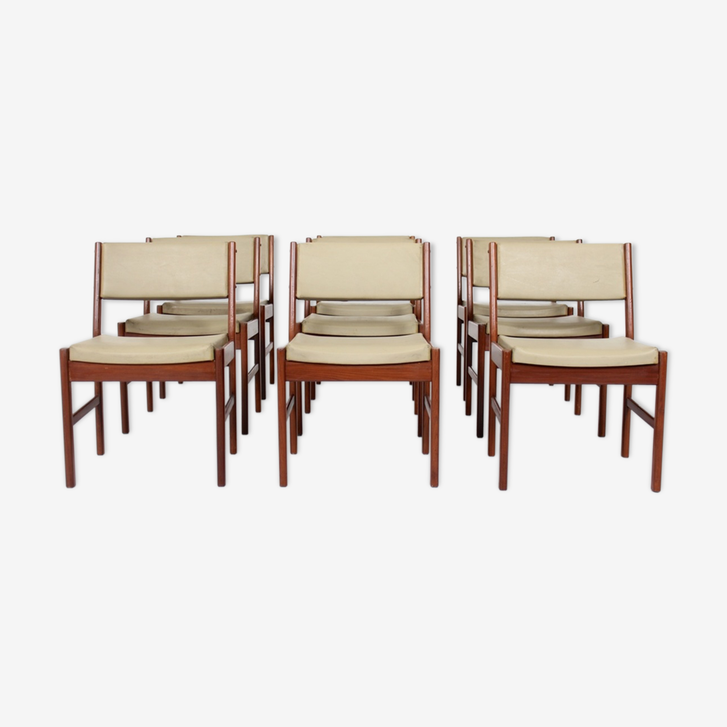 Vintage teak lounge chairs, Denmark, by MCM