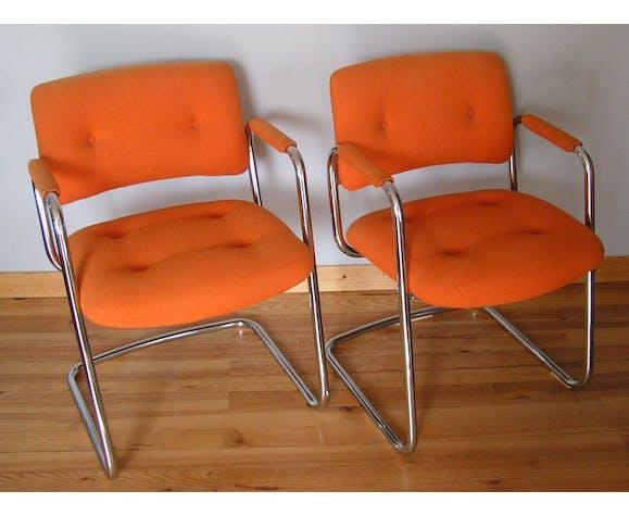 Strafor armchairs orange
