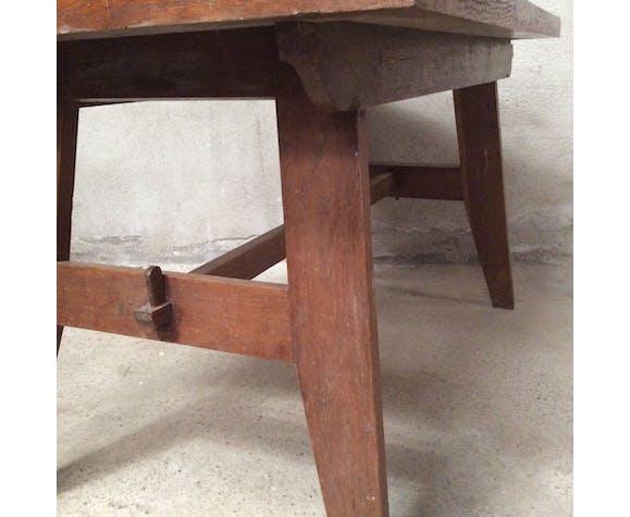 Table de repas René Gabriel 1950 chêne