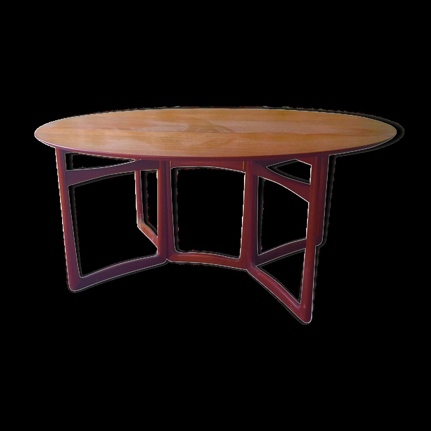 Table salle a manger avec rallonge intgre table de repas for Table salle a manger ronde avec rallonge