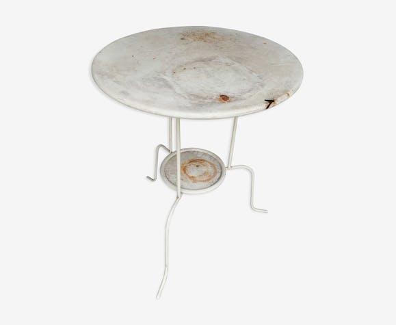 Table de jardin tripode métal peint
