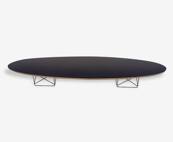 table basse style elliptical table etr charles ray eames 1951 bois mat riau noir. Black Bedroom Furniture Sets. Home Design Ideas