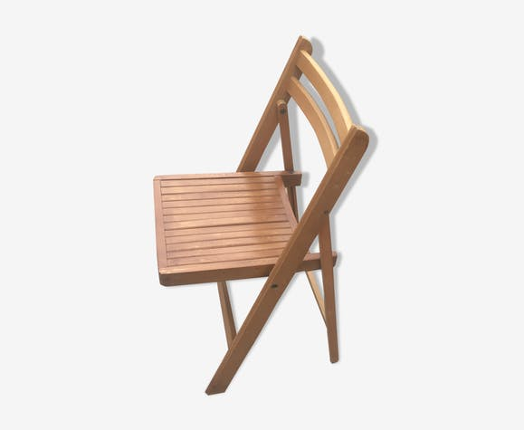 Chaise pliante vintage en bois