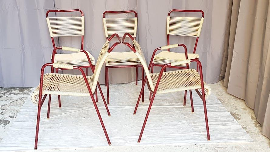 """Ensemble de sieges de jardin """"vintage 60"""""""
