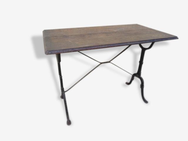Table De Bar Bistrot Ancienne En Fonte Et Bois Bois Matériau