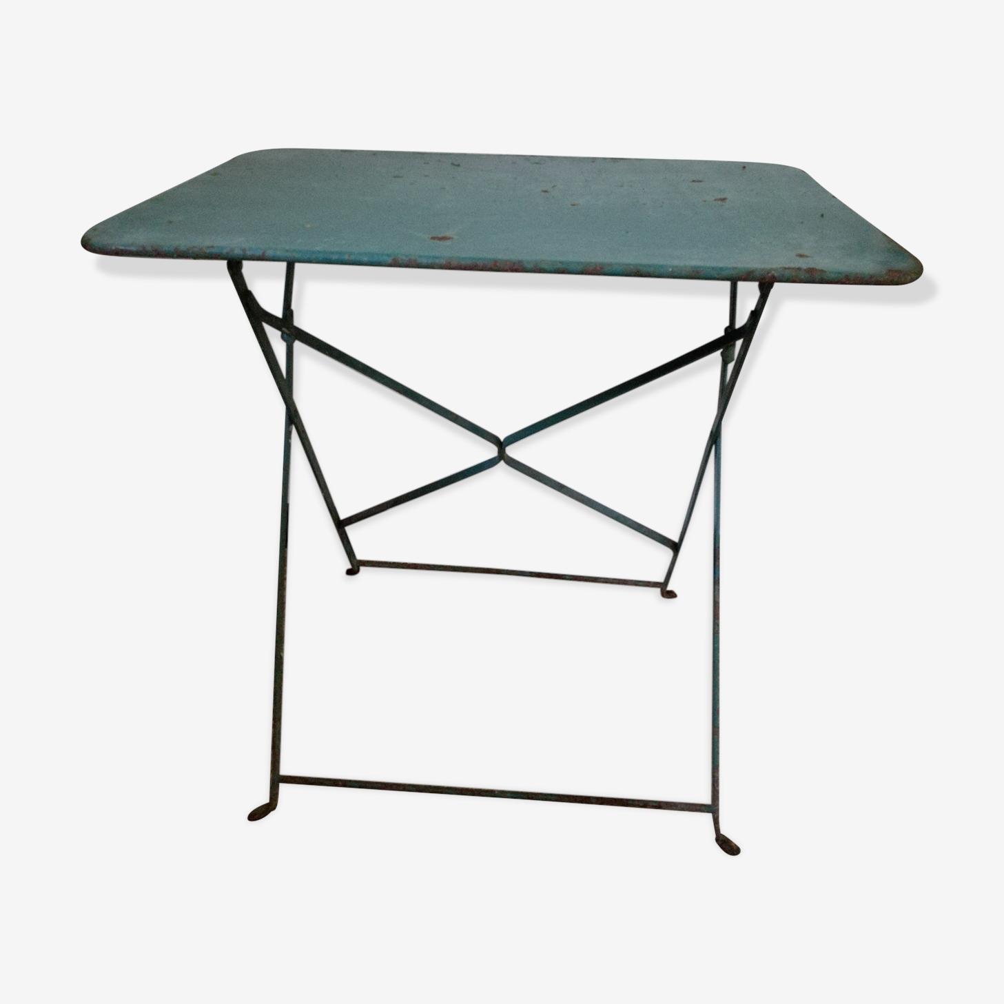 Ancienne table de bistrot en métal pliable
