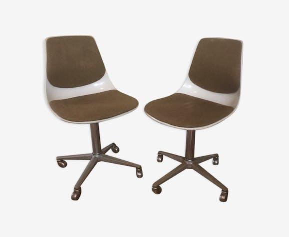 Paire de fauteuils pivotants années 70 de la marque Wilkhahn