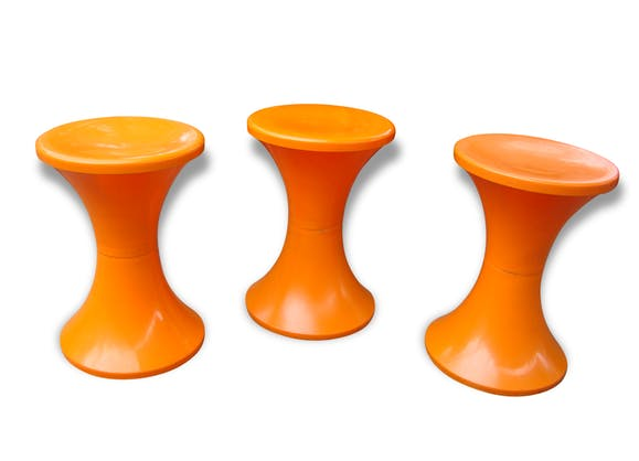 tabouret tam tam vintage 70 plastique orange vintage 64119. Black Bedroom Furniture Sets. Home Design Ideas