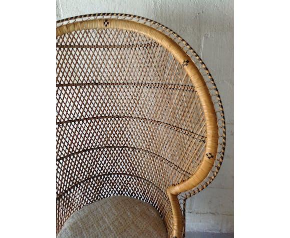 Emmanuelle armchair in rattan