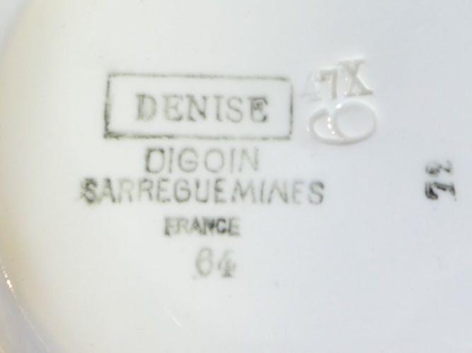 Saladier en faience de Digoin Sarreguemines modèle Denise
