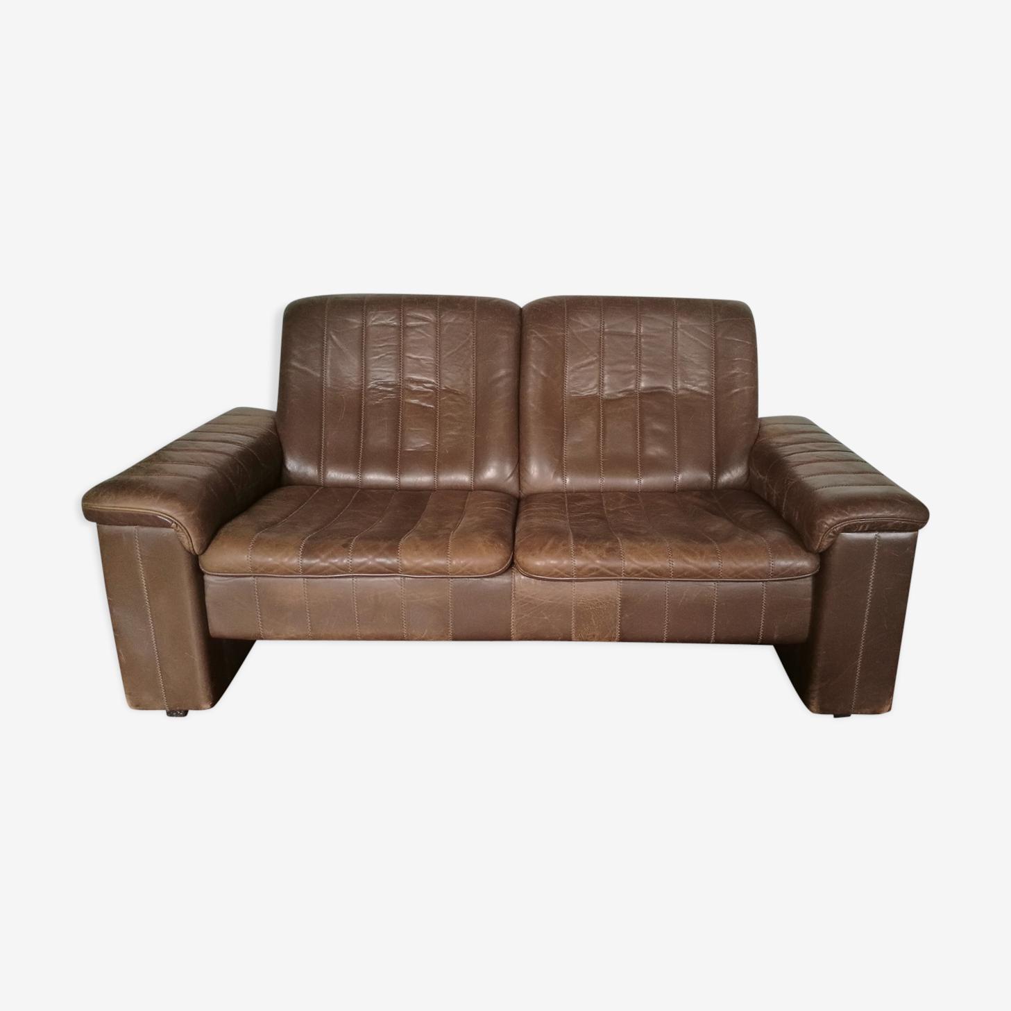 Sofa leather 2 seater De Sede 1970