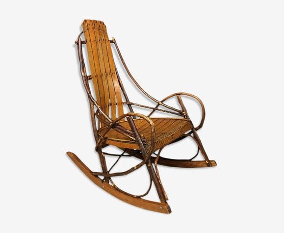 rockincher en bois latest amazing upcycle american style rocker rocking chair with rockincher. Black Bedroom Furniture Sets. Home Design Ideas