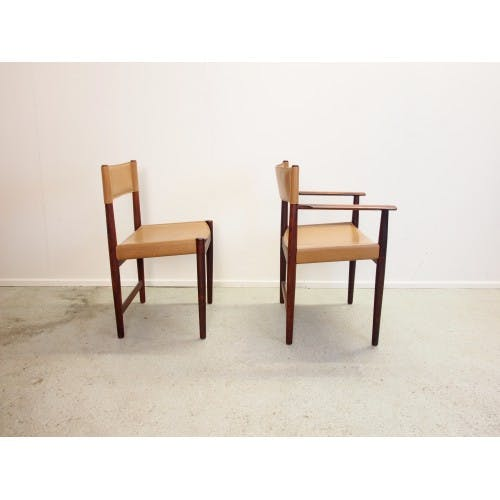 Set of 4 chairs Kurt Ostervig for Sibast Furniture rosewood