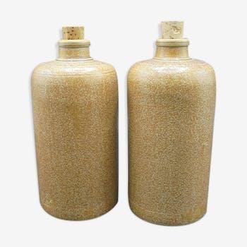 Pair of stoneware bottles
