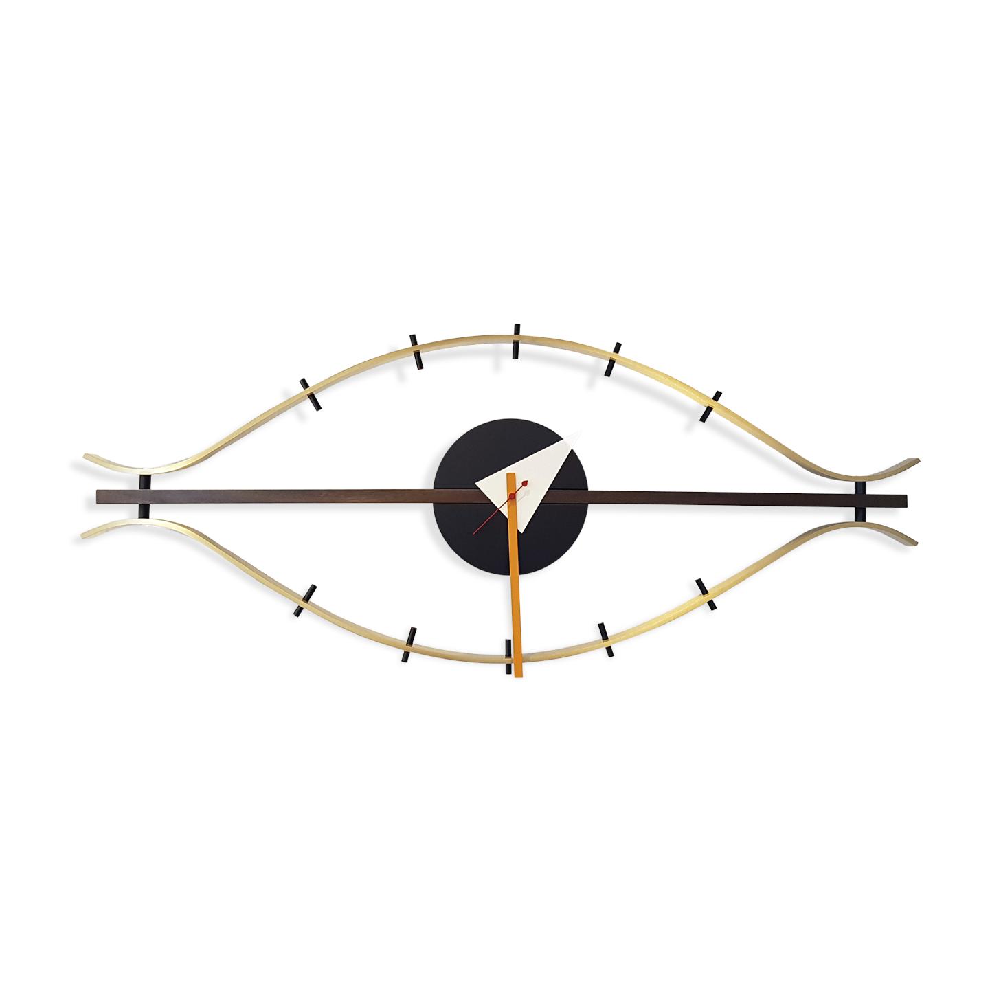 """horloge """"l'oeil"""" george nelson édité par vitra - laiton"""