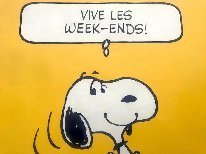 "Snoopy 1958 ""Weekend"" poster"
