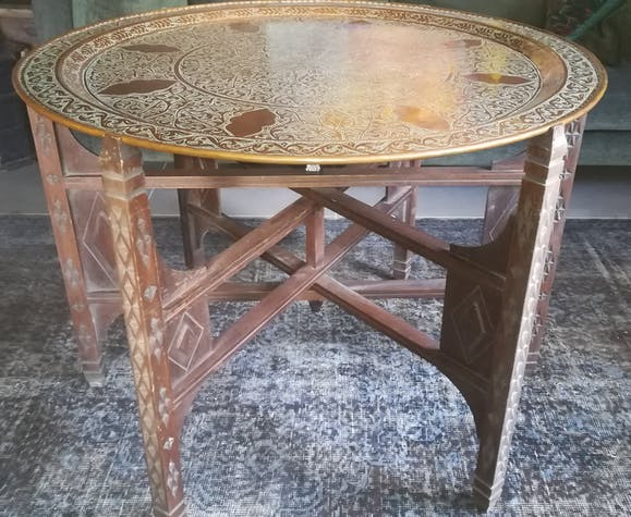 Ancient copper table