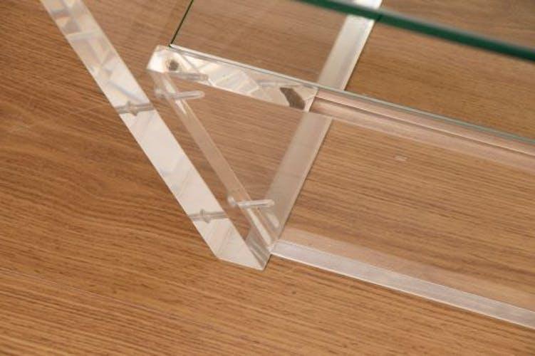 Table basse en verre, par David Lange