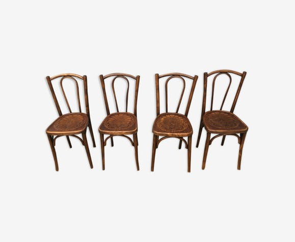 Set of 4 embossed seating Luterma chairs