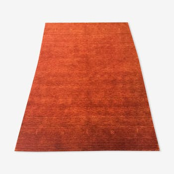 Tapis noué orange 200 x 300 cm